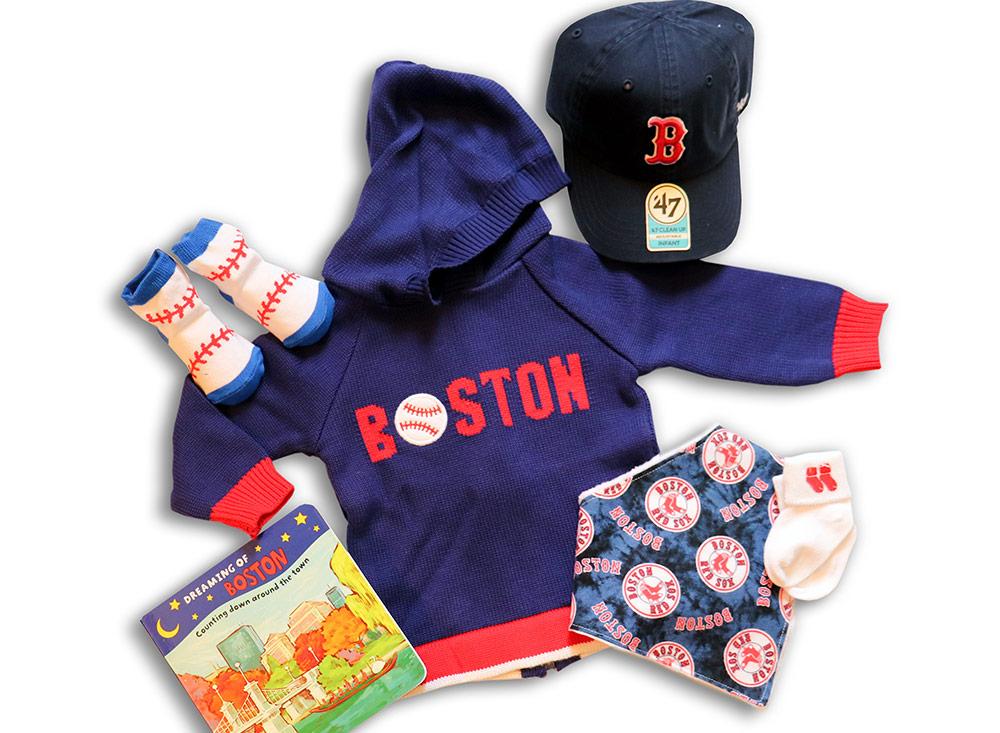 Boston Baseball sweater and Baseball theme